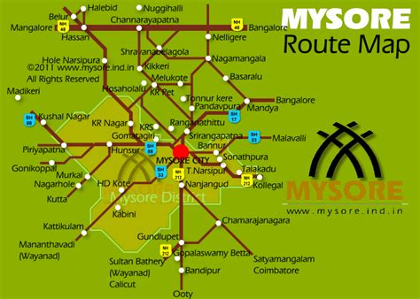 Mysore Mba Correspondence In Bangalore by Mysore Road Map Road Map For Mysore All The Road Are