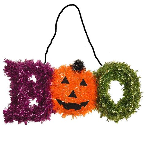 tinsel decorations tinsel decoration pumpkin ghost garland