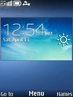 themes weather clock download blue weather clock nokia theme mobile toones