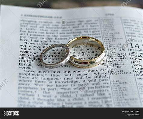 Wedding Rings On Bible by Wedding Rings On Bible Image Photo Bigstock