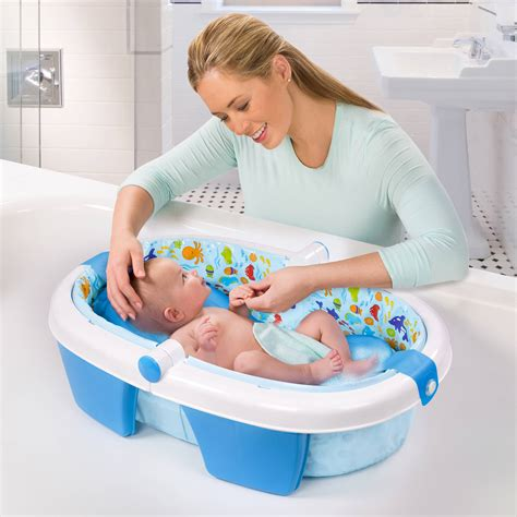 newborn bathtubs summer infant fold away baby bather walmart com by loversiq