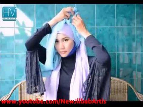 New Jilbab Afrin Sifon cara memakai jilbab plain shawl sifon cyan ala nuhijab 1