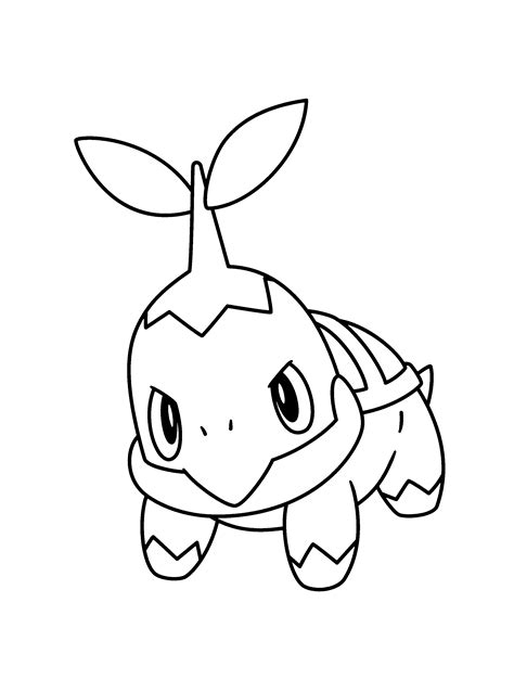pokemon coloring pages turtwig pokemon turtwig coloring pages az coloring pages