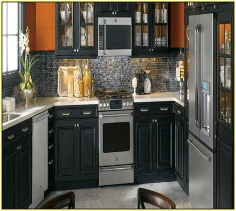 kitchen paint colors with oak cabinets and black appliances home design ideas