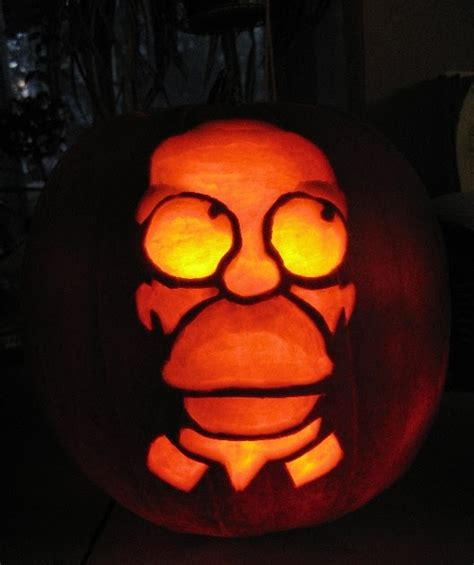 homer pumpkin template not by the hair on my chinny chin chin hallowe en