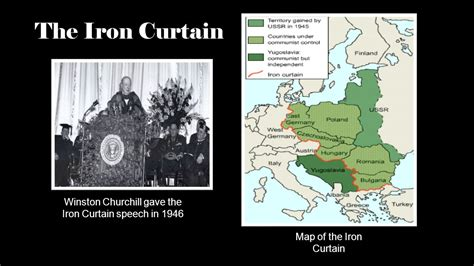 what was the iron curtain speech peacetime adjustments ppt video online download
