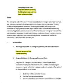 employee plan template emergency plan template 9 free sle exle