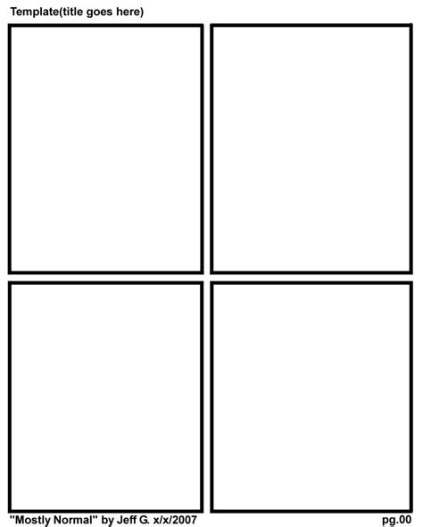 comic book layout template new comic layout template by animeister on deviantart