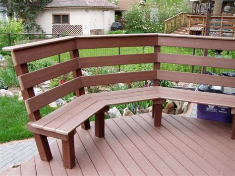 deck railing bench bench railing home deck pinterest