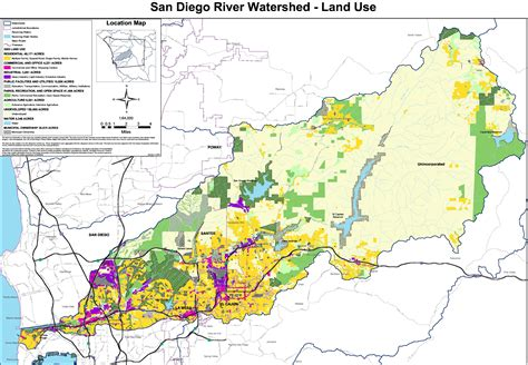 california land use map san diego river map
