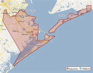 galveston on map superfund in galveston county tceq www tceq