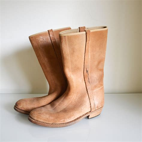 Handmade Leather Boots - handmade leather boots moroccan boots suede boots 38