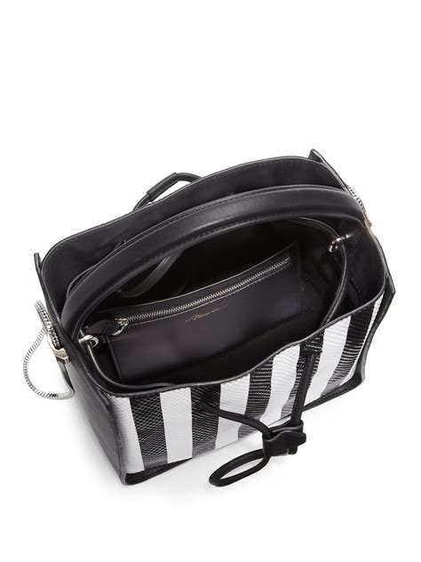 31 Phillip Lim Bag Shoulder Tote by Lyst 3 1 Phillip Lim Soleil Small Striped 3d Textured