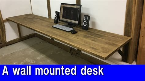 wall to wall desk diy a wall mounted desk