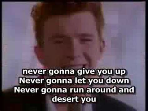Rick Astley Never Gonna Give You Up Meme - rick astley never gonna give you up with lyrics youtube