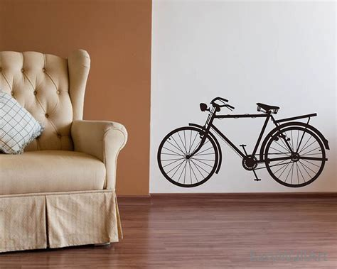Wall Sticker Bicycle bicycle wall decal bicycle wall sticker bike by happywallzart