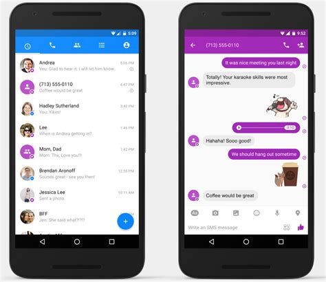 full facebook for android facebook messenger for android now supports sms