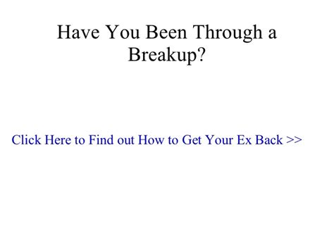 How To Get To Find Your How To Get Your Ex Back