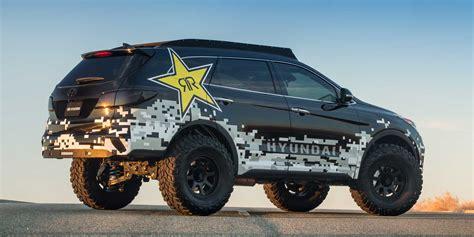 Lifted Hyundai Santa Fe by 2017 Hyundai Santa Fe Rockstar Vehicles On Display