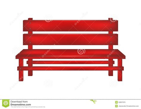 the red bench rural bench royalty free stock image image 32807876