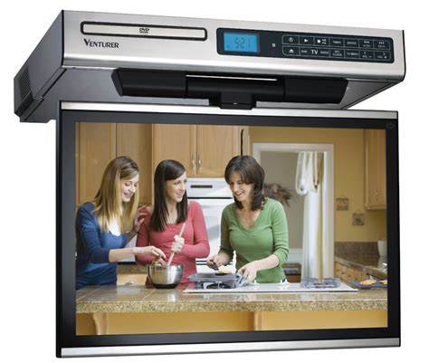 kitchen under cabinet tv looking for the best small tv for a kitchen the venturer under cabinet tv is what you need