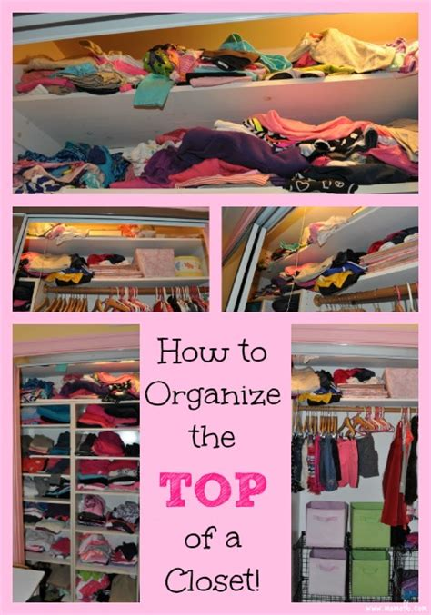 how to organize the top of a closet