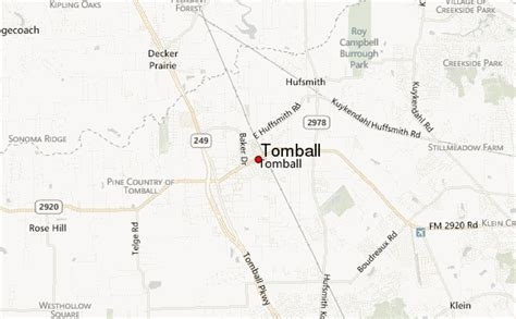 tomball texas map tomball location guide
