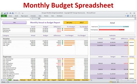 home budget spreadsheet excel budget template excel