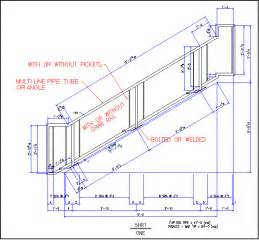 Stair Railing Detail by Sample Of Stair Rail Detail For Autosd Steel Detailing