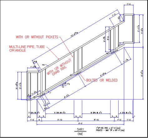 Stair Handrail Details sle of stair rail detail for autosd steel detailing