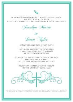 Wedding Blessing Template by Chritian Wedding Invitation Templates Shower