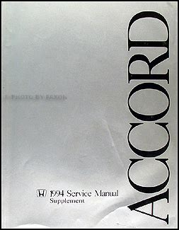 service and repair manuals 1983 honda accord parental controls 1994 honda accord coupe wagon service manual supplement original