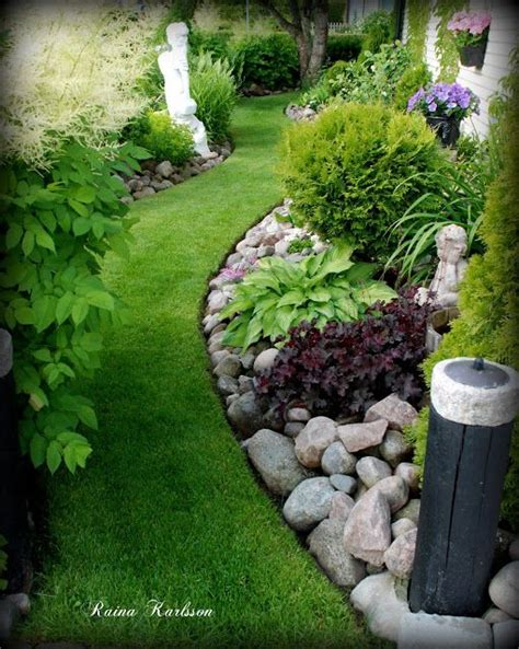 rock flower beds beautiful curved flower bed with rock garden and plantings