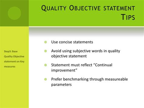 presentation on establishing quality objectives