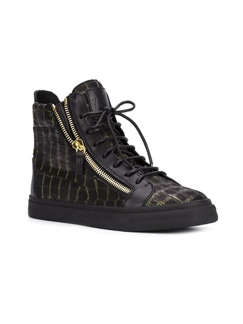 giuseppe sneakers for giuseppe zanotti crocodile leather high top sneakers in