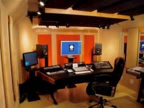 home studio design modern black wood studio desk design with curved shaped