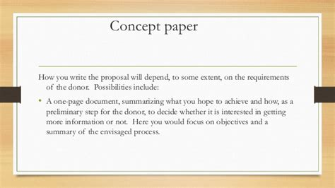 how to write a concept paper writing a funding