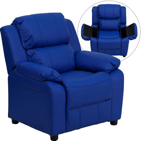 flash furniture deluxe heavily padded blue