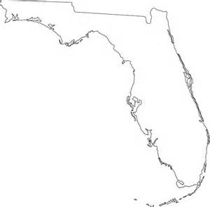 florida state map outline outline map of florida