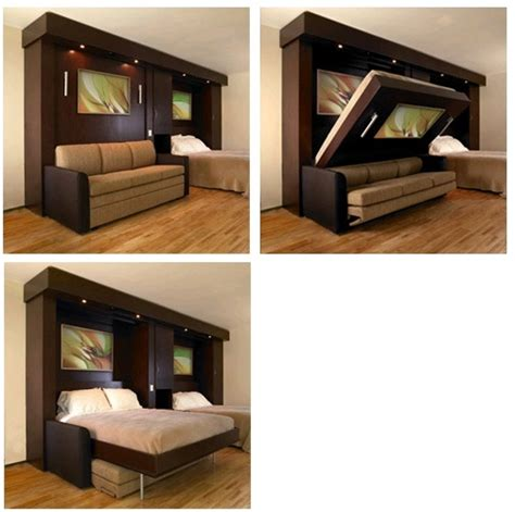 couch folds into bed a murphy bed that folds down over a sofa home pinterest