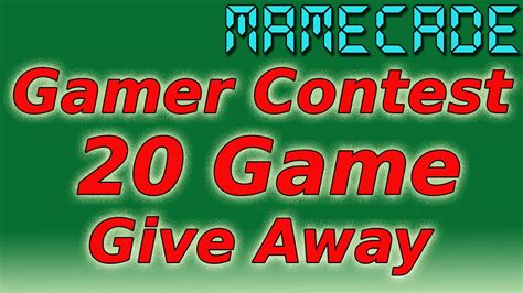 Youtube Giveaway Rules - mega contest 20 game giveaway mamecade youtube