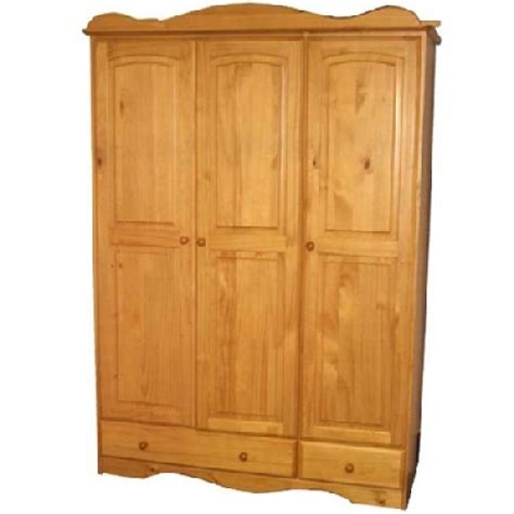 cambrian pine wardrobe 3 doors 2 drawers