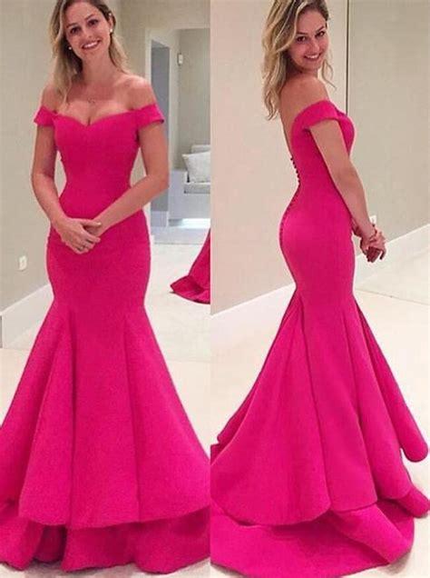Carset 3 In Hug Flower Dress Hotpink shoulder prom dress pink prom dresses high quality