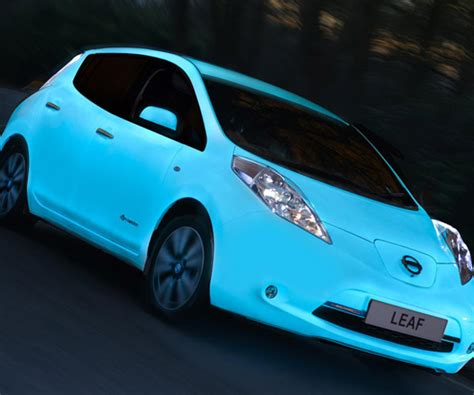 glow in the paint nissan nissan leaf is cooler with glow in the paint