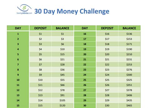 save nearly 500 with the 30 day money challenge