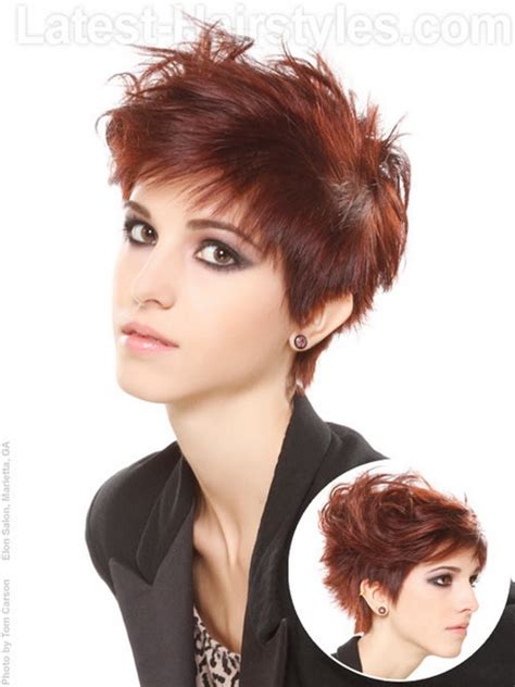 pictures women s hairstyles with layers and short top layer very short layered haircuts for women