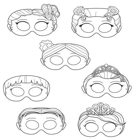printable masks princess princesses printable coloring masks princess masks prince