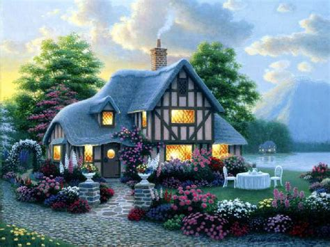 Cottage Wallpapers by Wallpapers Photo Cottage Wallpaper