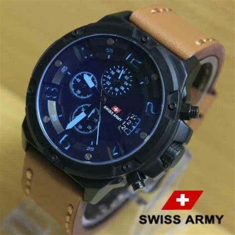 Jam Tangan Pria Swiss Army Wb452 Coklat Polos T1310 jual jam tangan swiss army chrono coklat jarum biru di lapak aizza store aizacollection