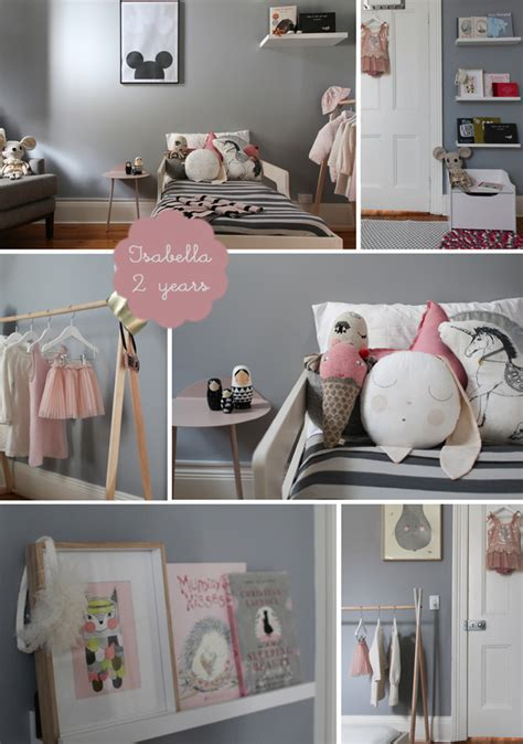 pink and grey toddler room nursery kids room interior design blog childrens
